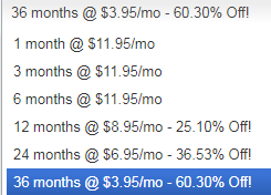 Hostgator Predator Pricing Graph - Buyer Beware