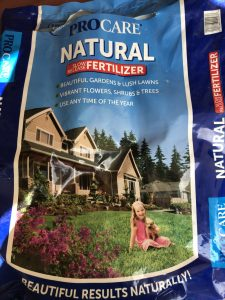 Using a Natural Fertilizer to get things Started