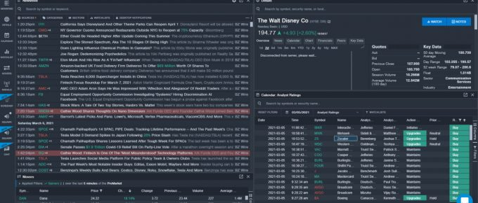 A Browser Look at the Benzinga Pro Service